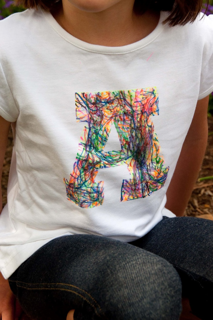 Diy Tutorial Aesthetic Nest Craft Scribble Initial T Shirt Using Fabric Markers