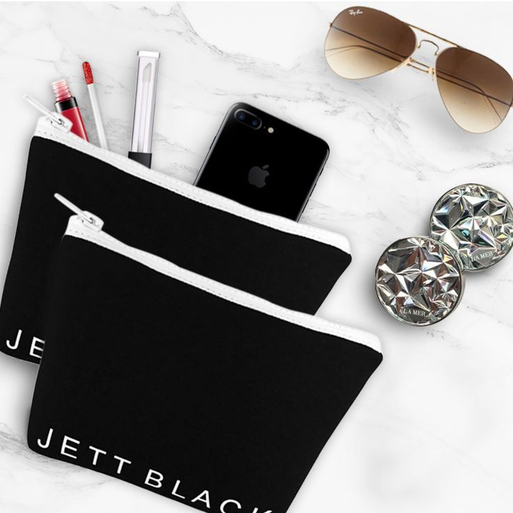 Jett Black Neoprene Travel Cases - Perfect for all the little things! #Neoprene