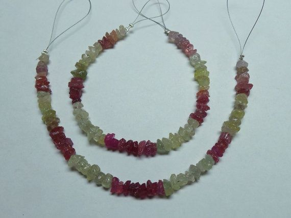 Natural Multi Sapphire Rough Chip Beads 4-8 MM by StarGemBeads