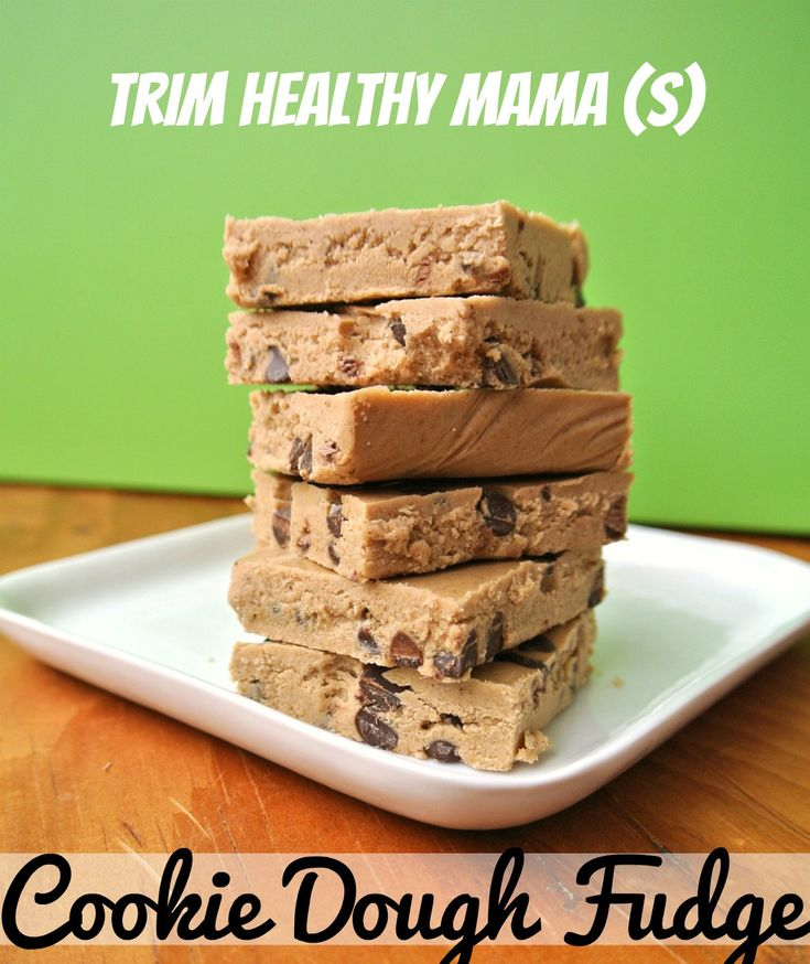 Trim Healthy Mama (THM S) Cookie Dough Fudge - quick and easy no-bake recipe made with coconut oil and collagen!