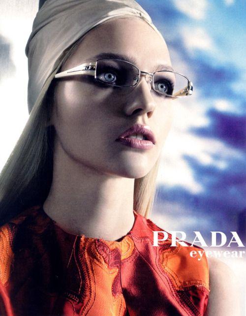 vogue-is-viral:  Sasha Pivovarova for Prada Eyewear Spring 2007...