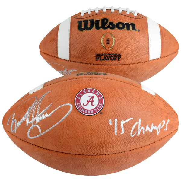 "Derrick Henry Alabama Crimson Tide Fanatics Authentic Autographed Wilson College Football Playoff Football with ""15 NATL CHAMPS"" Inscription - $399.99"
