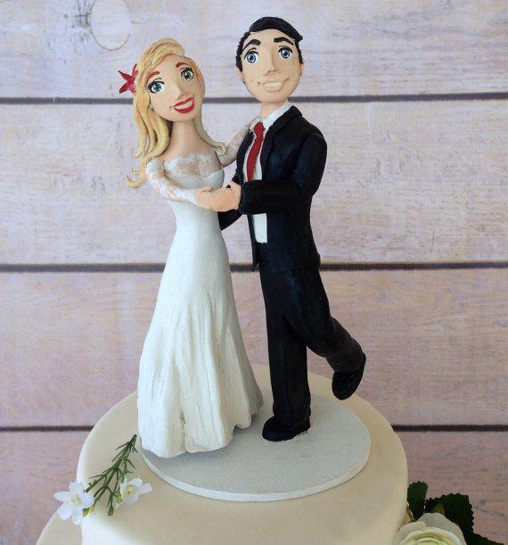 Clay Dancing wedding couple handmade figurines