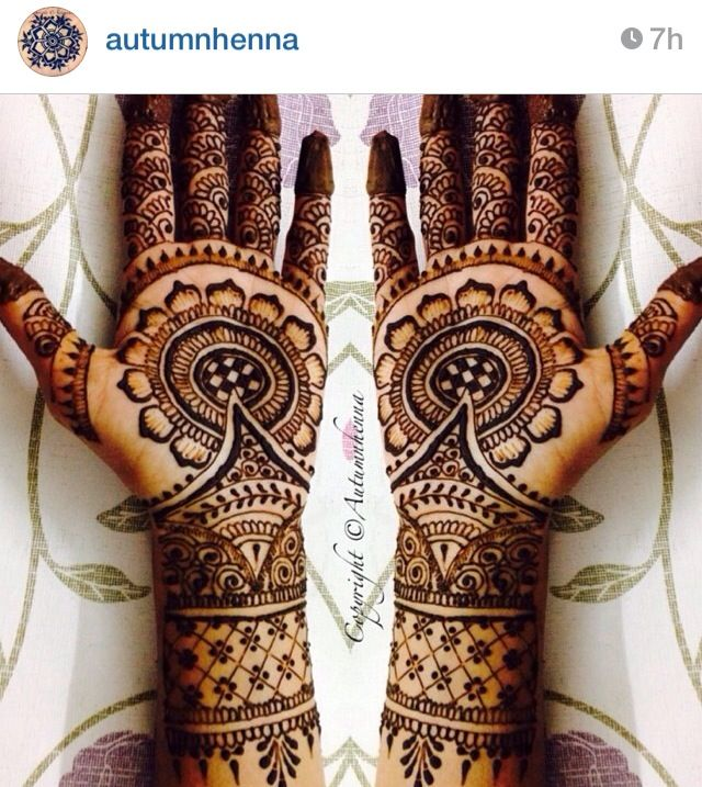 Love the look of this bridal henna / mendhi. So beautiful!