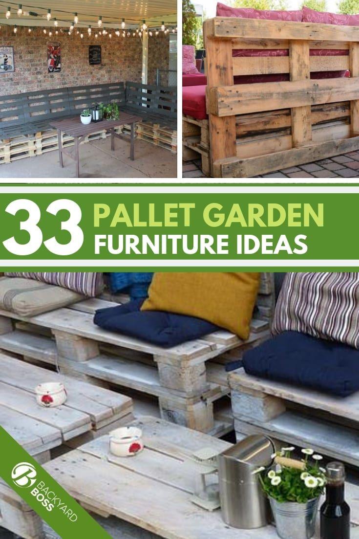 33 Diy Pallet Garden And Furniture Ideas Pallet Garden Furniture Simple Garden Furniture Ideas Garden Furniture Design