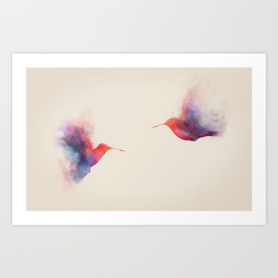 Buy Hummingbirds Art Print by Daniel Taylor. Worldwide shipping available at Society6.com. Just one of millions of high quality products available.