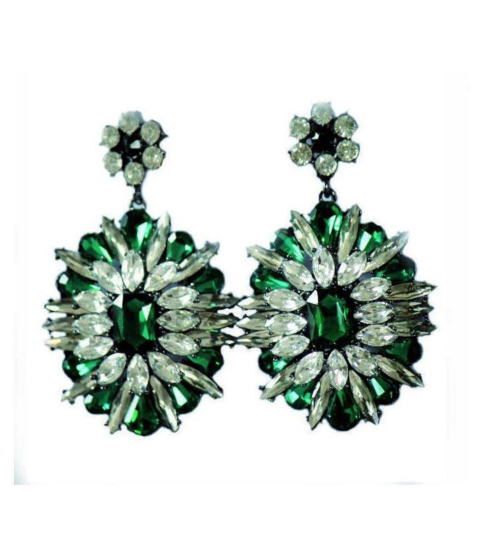 Miriam Stella Fashion Jewelry - Orecchini cristalli verdi  #miriamstella #fashionblogger #moda #fashion #madeinitaly #fashionjewelry #jewelry #jewels #earrings #crystals #green
