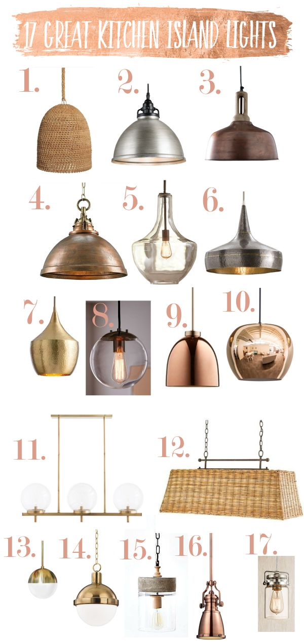 Kitchen Island Lights and Pendant Lights.