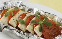 Χαλούμι ή κατσικίσιο τυρί ψητό με ντομάτα  - iCookGreek