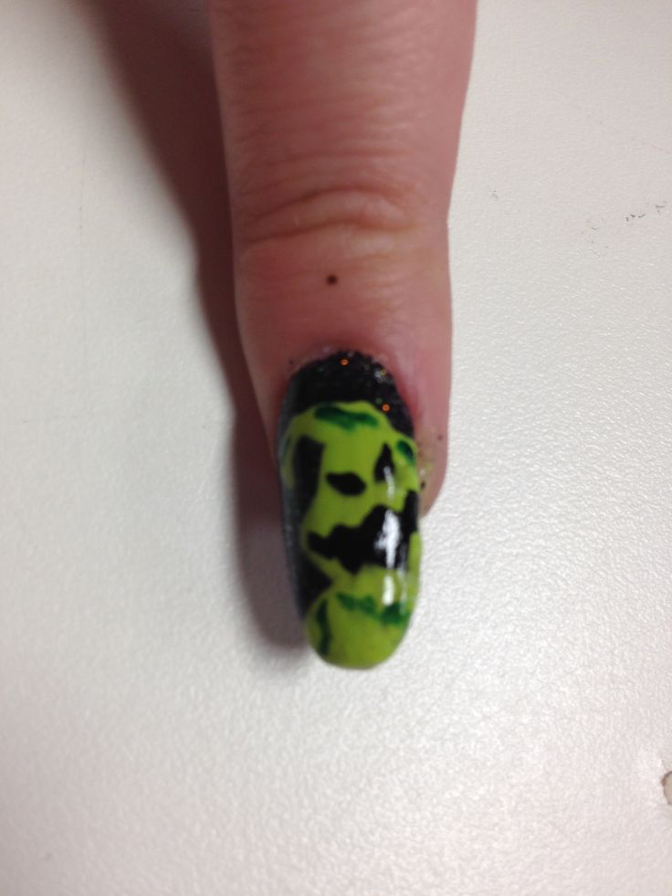 Oggie Boogie nail | Halloween nails, Nails, Gemstone rings