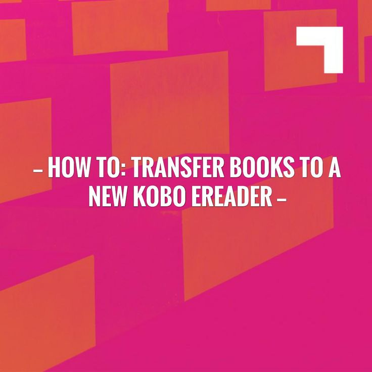 Check out my new post! How to Transfer books to a new Kobo device :) https://everythingaboutebooks.com/how-to-transfer-books-to-a-new-kobo-ereader?utm_campaign=crowdfire&utm_content=crowdfire&utm_medium=social&utm_source=pinterest