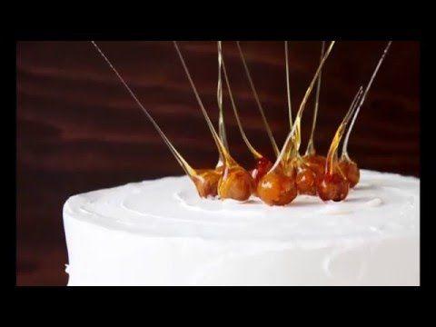 Украшение для торта / Caramel Decoration - YouTube