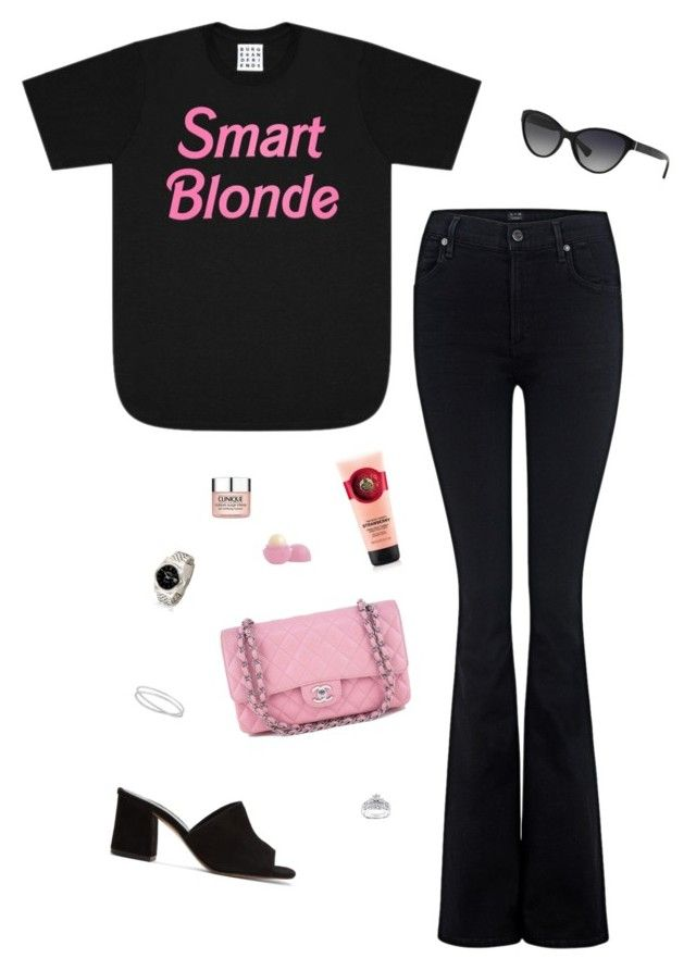 """""""#79"""" by heelsandgo on Polyvore featuring Citizens of Humanity, Maryam Nassir Zadeh, Kobelli, Chanel, Maison Margiela, Eos, Clinique and RALPH"""
