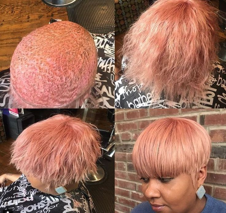 Nice rose gold via @styles_4_usalon - blackhairinformat...