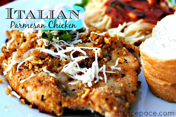Italiano Ranch Parmesan Chicken | At Race Pace - This looks delicious!