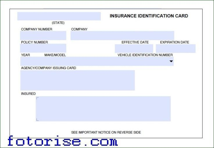 Download Template For Car Insurance Card Fotorise For Car