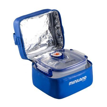 """Miniland Термосумка Pack-2-go Hermifresh  — 1980р. ------------- Термосумка с 2 вакуумными контейнерами """"Pack-2-go Hermifresh"""" синего цвета маркиMiniland. Надежно сохранит необходимую температуру еды, ее удобно брать с собой, благодаря креплениям для коляски или сумки. В комплекте 2 герметичных контейнера, в которые можно положить нужную для малыша еду. Во время путешествий, пикников и поездок в гости, ребенку необходимо правильно и своевременно питаться. Помочь родителям облегчить эту…"""