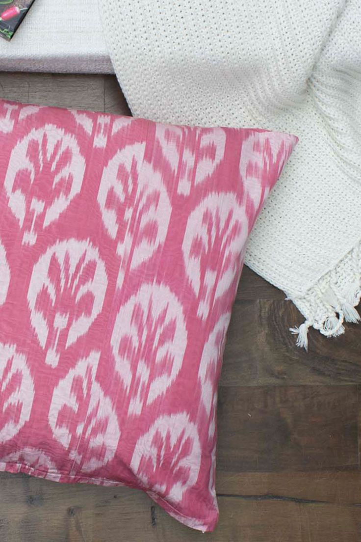 Large Ikat cushion. The perfect way to add an ethnic touch to a contemporary decor