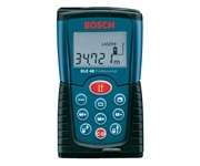 Bosch DLE40 Laser Distance Measure. Small, compact and extremely easy to use. It will make your life easy, and save you time and money with Multi-functional - all basic measuring functions available including length/distance, area and volume etc.