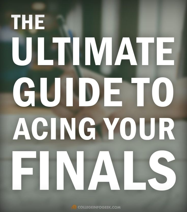 The Ultimate Guide to Acing Your Final