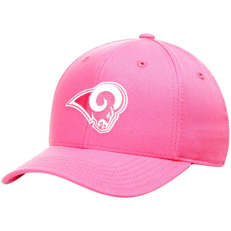 Los Angeles Rams Girls Youth Slouch Basic Adjustable Hat - Pink - $14.39