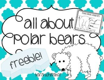 All About Polar Bears: I hope that you enjoy this fun polar bear freebie! Use these activities to supplement any non-fiction polar bear unit. This pack includes a 7-page All About Polar Bears book template, 2 polar bear graphic organizers (a KWL chart and a Can/Have/Are chart), and an invitation to a Polar Bear Party (invite parents, teachers, or other classes to hear your students read their polar bear books aloud!) If you enjoy these, you may also like Sequencing Picture Cards, Winter…