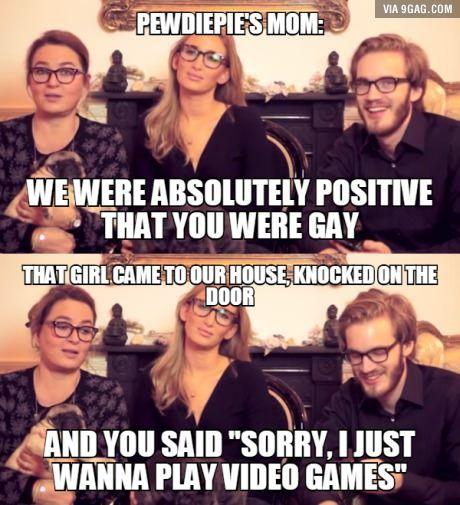 Pewds knows how to handle girls XD