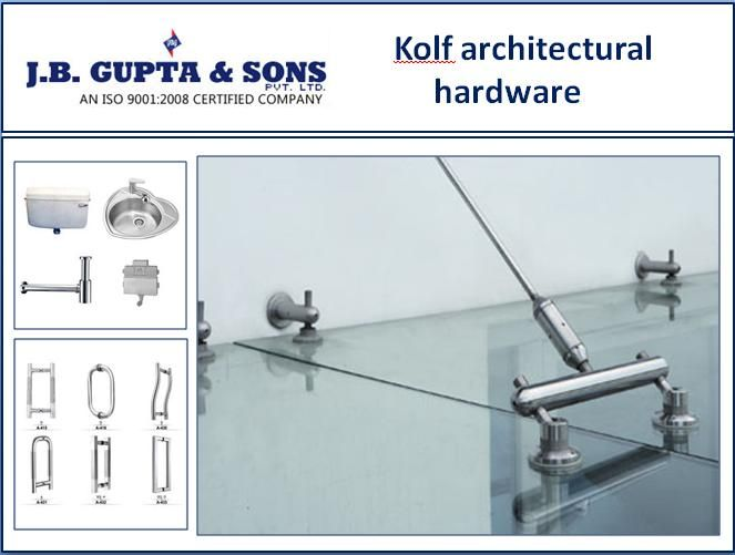 Get the kolf architectural hardware from JBG Hardware. We deliver all the products needed for your home improvement, kitchen improvement etc. More details on :- http://www.jbghardware.com/about/