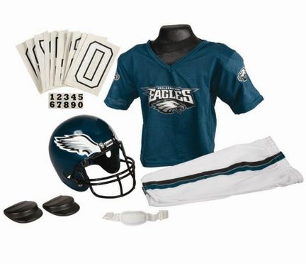 "Franklin Philadelphia Eagles DELUXE Youth Helmet and Football Uniform Set (Small): ""Perfect… #SportingGoods #SportsJerseys #SportsEquipment"