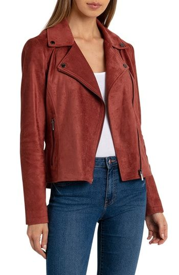 ab85eb9952ca New Bagatelle Faux Suede Biker Jacket ,Fashion Women Clothing sale, black  friday sale 33