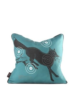 Inhabit Fox Bullseye Pillow, Cornflower Blue