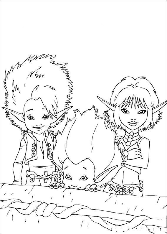 17 best Arthur And The Minimoys Coloring Pages images on Pinterest ...