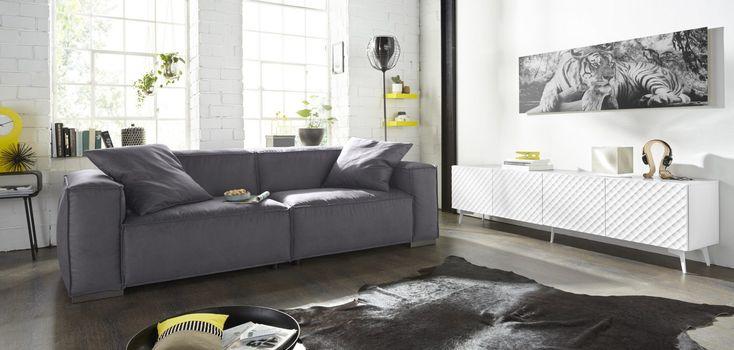 ... Design Möbel Online Kaufen » Modern Stilvoll OTTO Wohnzimmer   Wohnideen  Wohnzimmer Grau Weiss Silber ...