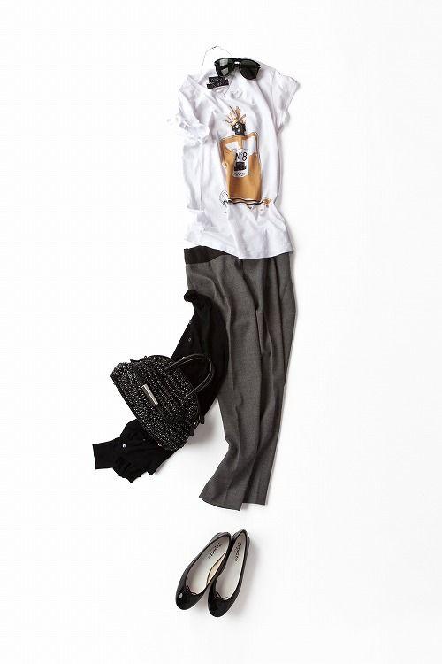 プリントTをフレンチムードに楽しむ 2013-07-29 | trousers price :9,240 brand : BLANC basque/FUR http://www.basqueltd.com/ | top price :6,300 brand : ストラスブルゴ STRASBURGO http://www.strasburgo.co.jp/