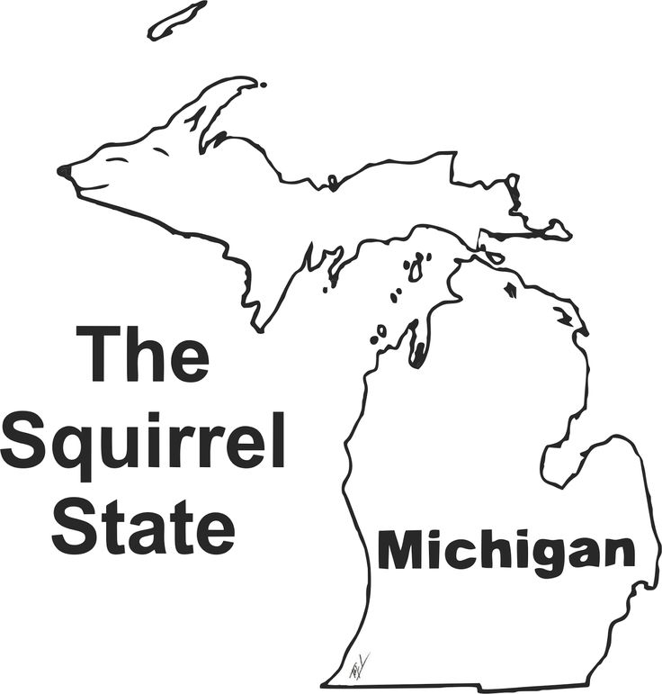Funny maps: A funny map of Michigan