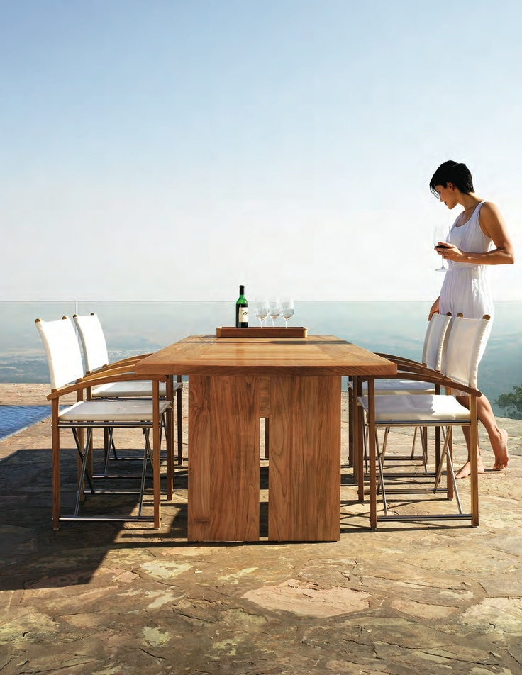Summit X Rectangular Dining Table Sundeck Folding