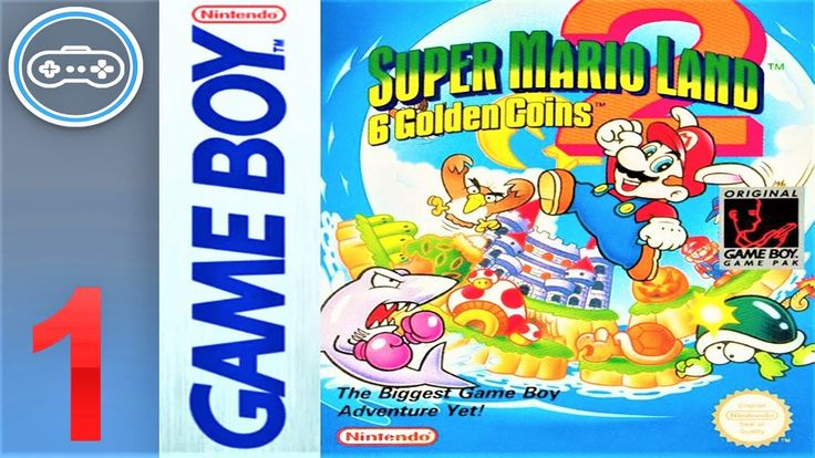 Super Mario Land 2 6 Golden Coins Gameplay Game Boy Part 1 1080p In 2020 Super Mario Land Gameboy Super Mario