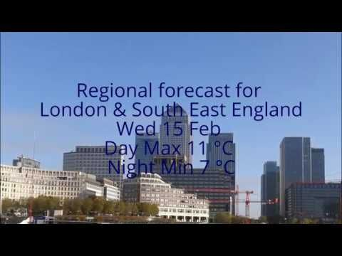 London & SE Weather - Wed 15 Feb - Air pollution 3 - Day Max 11 °C - Nig...