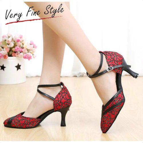 Women's Ballroom Latin Tango Dance Shoes Heeled Salsa Dancing Shoe Size 5-9