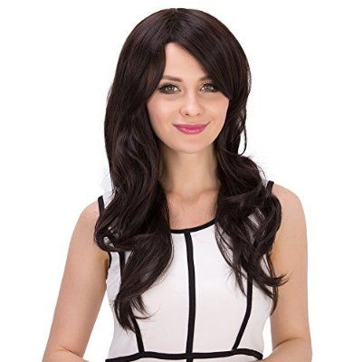 "Long Hair Wig, Grammy 20""Wowen Hair Wigs Long Wavy Curly Wig Full Wig with Bangs Long Brown Wig As Real Wig it"