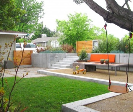 Here's the modernist in me saying cool - modern-outdoor play area!