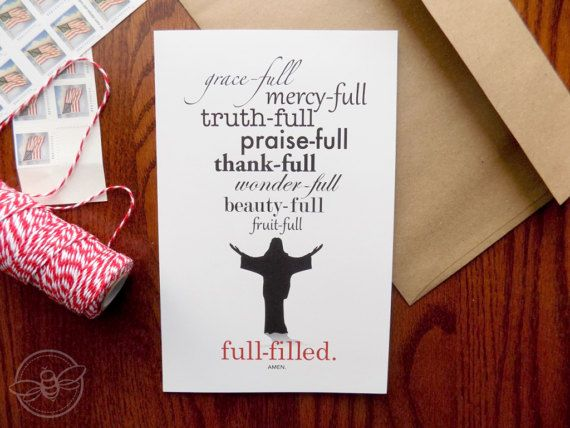 Fulfilled Christian Greeting Card Greeting Card set of 4