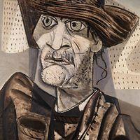 1943 . Vaqueiro do Nordeste - Candido Portinari nasce em 30 de dezembro de 1903, numa fazenda de café perto do pequeno povoado de Brodowski, no estado de São Paulo. Filho de imigrantes italianos, de origem humilde, tem uma infância pobre. Recebe apenas a instrução primária. Desde criança manifesta sua vocação artística. Começa a pintar aos 9 anos. E – do cafezal às Nações Unidas – ele se torna um dos maiores pintores do seu tempo.