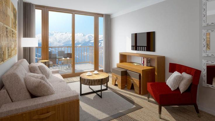 Les Arcs Edenarc 1800. Living room