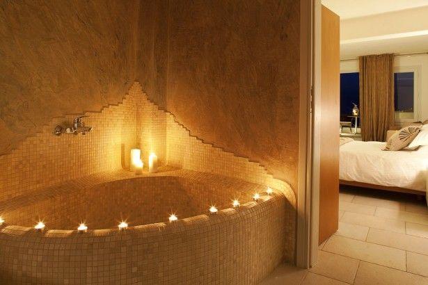 Indoor romantic jacuzzi idea jacuzzi design ideas for Indoor jacuzzi design