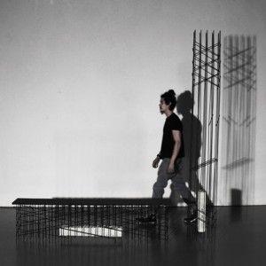 Bram Vanderbeke creates furniture  based on steel reinforcing bars