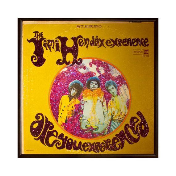 Glittered Jimi Hendrix Are You Experienced Album