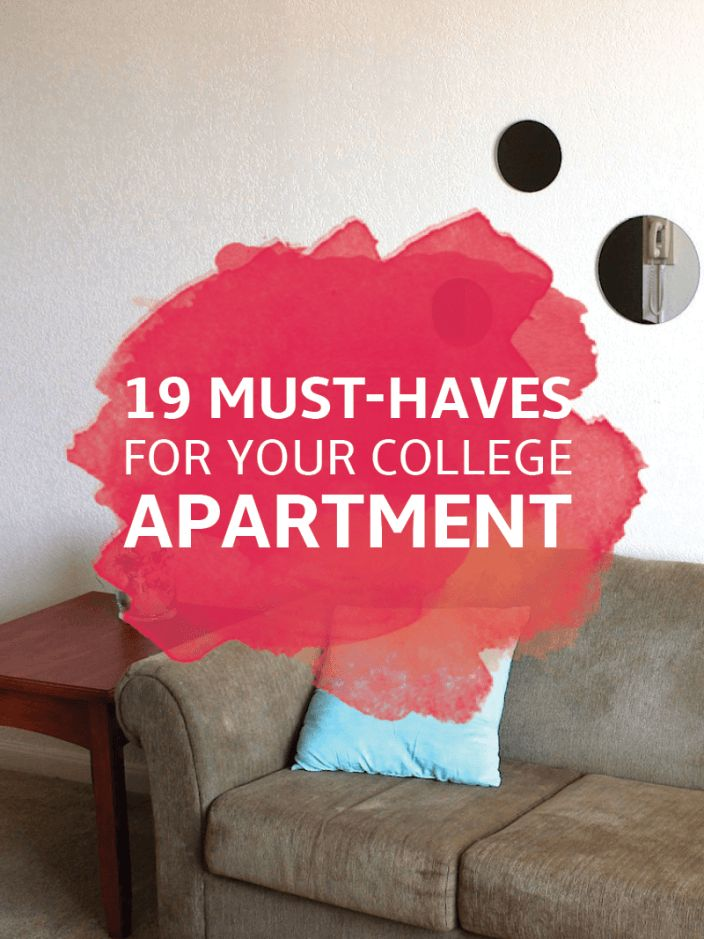 24 Essentials for Your College Apartment – Kitchen, Room & Decor