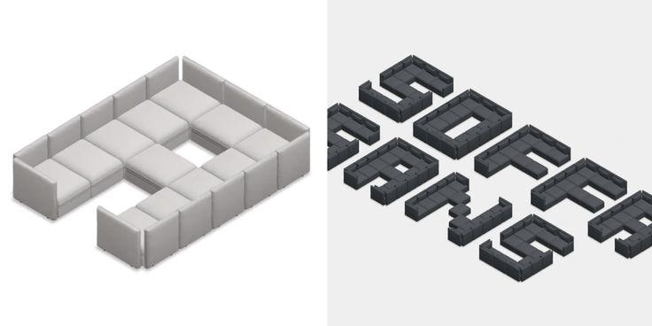 IKEA dévoile une police d'écriture inédite imaginée à partir de son canapé modulable Vallentuna