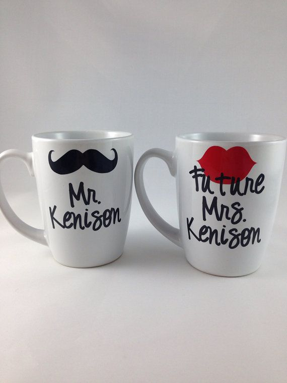 Engagement Gift Mr And Future Mrs Coffee Mug Set Bridal